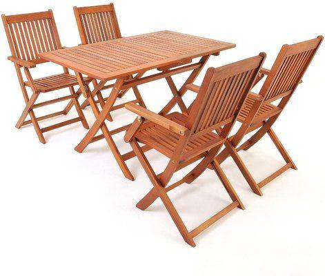Deuba Wooden garden furniture set