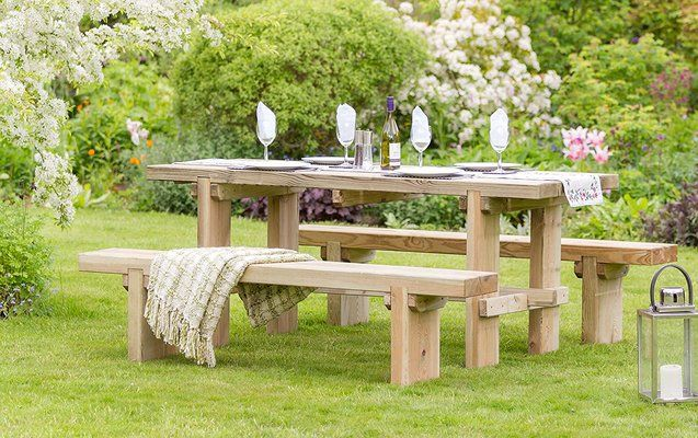 Elche Solid Wood Garden Dining