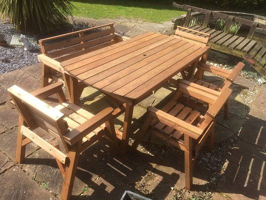 FENTON GARDEN FURNITURE Table, Bench & Chairs