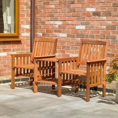 Kingfisher Hardwood Love Seat