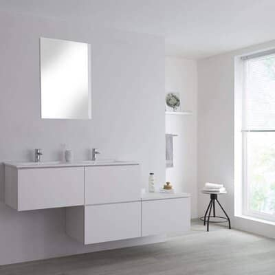 Milano Stepped Bathroom Vanity Unit