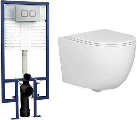 Abacus Wall Hung Rimless Toilet