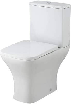 Bathroom Rimless Coupled Toilet Pan