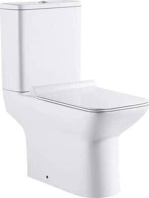 Rimless Soft Square Close Coupled Toilet