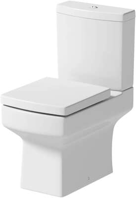 Modern Square Toilet Close Coupled WC