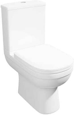 Round Bathroom Toilet Close Coupled Modern
