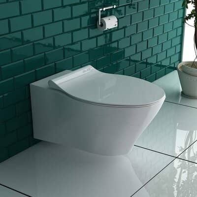 bad1a Rimless wall-mounted toilet